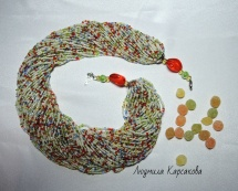 "Beaded necklace ""Montpensier candy"""